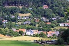 Weizenfelder in den Bergen von Deutschland, Bodingheim Stockbild