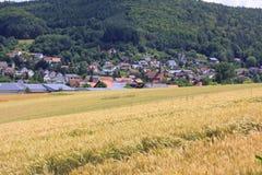 Weizenfelder in den Bergen von Deutschland, Bodingheim Lizenzfreie Stockfotografie