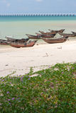 Weizhou island fishing boats Stock Image