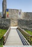 Wejścia i dostępu most średniowieczny forteca w Drobeta Turnu-Severin Zdjęcie Royalty Free
