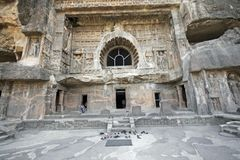 wejścia pradawnych kamieni do świątyni Zdjęcia Stock