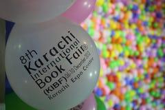 Wejścia targi książki Karachi zawody międzynarodowe Targi Książki Fotografia Stock