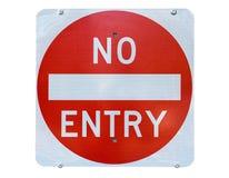 wejście żadny stary szyldowy ruch drogowy Obrazy Stock