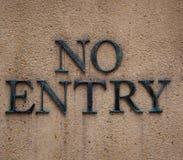 wejście żadny znak Obrazy Royalty Free