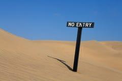 wejście żadny znak Fotografia Royalty Free