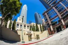 Wejście biblioteki publicznej śródmieście Los Angeles obrazy stock