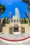 Wejście biblioteki publicznej śródmieście Los Angeles obraz stock