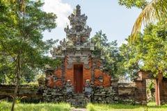 Wejście brama Hinduska świątynia, Buruan, Bali, Indonezja obraz stock