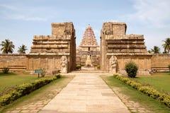 Wejście, Brihadisvara świątynia, Gangaikondacholapuram, tamil nadu, India zdjęcia stock