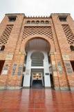 Wejście byka boju arena z odbiciami zdjęcia royalty free