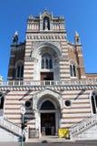 Wejście Capuchin kościół Nasz dama Lourdes w Rijeka Chorwacja zdjęcie stock