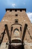 Wejście Castelvecchio w Verona obrazy royalty free