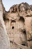 Wejście ciemny kościół przy Goreme na wolnym powietrzu muzeum, Cappadocia, obrazy royalty free