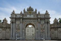 Wejście Dolmabahce pałac w Istanbuł, Turcja obraz royalty free