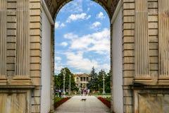 Wejście Dolmabahche pałac, Istanbuł, Turcja Zdjęcie Stock
