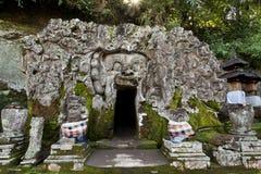 Wejście Goa Gajah jama obraz stock
