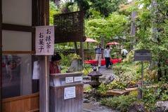 Wejście herbacianego domu ogród w Kinkaku-ji świątyni Zdjęcia Royalty Free