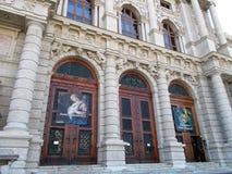 Wejście historii sztuki muzeum w Wiedeń obrazy royalty free