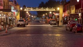 Wejście historyczny Naprzód Warty Akcyjnych jardy, Teksas zdjęcia stock