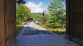 Wejście Kinkaku ji, złota świątynia w Kyoto Zdjęcie Stock