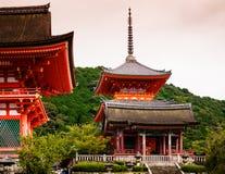 Wejście Kiyomizudera świątynia, Kyoto, Japonia Zdjęcie Stock