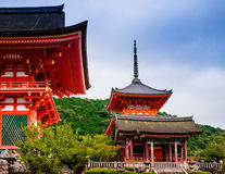 Wejście Kiyomizudera świątynia, Kyoto, Japonia Fotografia Stock
