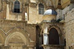 Wejście kościół Święty Sepulchre, Jerozolima, Izrael fotografia stock