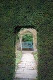 Wejście labirynt przez żywopłotu Zdjęcie Stock