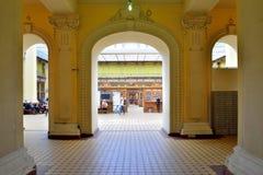 Wejście lobby urząd pocztowy w Petersburg na a Zdjęcie Royalty Free
