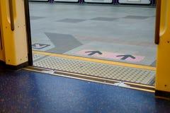Wejście metra wyjście Obraz Royalty Free