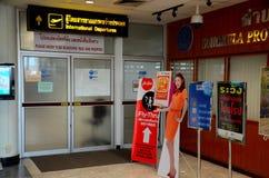 Wejście międzynarodowy odjazd bramy Yai Kapeluszowy lotnisko Tajlandia Obrazy Stock