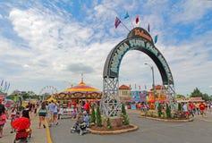 Wejście Midway przy Indiana stanu jarmarkiem fotografia stock