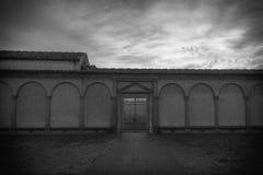 Wejście niebo Fotografia w czarny i biały koloru stylu Winieta skutek Zdjęcie Stock