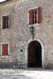 Wejście pałac Billiards, Cetinje Obraz Stock