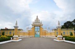 Wejście pałac królewskiego inPhnom Penh, Kambodża Fotografia Stock