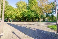 Wejście Parc des bastiony, Genewa, Szwajcaria obrazy royalty free
