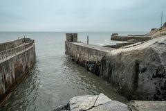 Wejście podziemny wojskowego portu Zhaishan tunel na Kinmen wyspie, Tajwan obrazy stock