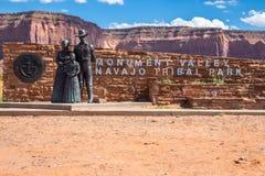 Wejście Pomnikowa dolina, Utah, usa zdjęcie royalty free