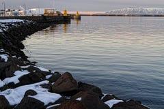 Wejście Reykjavik stary schronienie zdjęcie stock