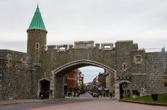 Wejście Stary Grodzki Quebec miasto fotografia royalty free
