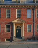 Wejście Stary stanu dom w w centrum Boston, usa zdjęcia stock