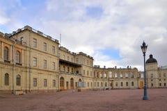 Wejście Uroczysty pałac w Gatchina Zdjęcie Stock