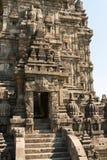 Wejście w Brahma świątyni wierzchołku w Candi Prambanan fotografia royalty free