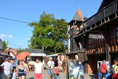 Wejście w otręby kasztelu, dom Dracula, Brasov, Transylvania zdjęcia royalty free