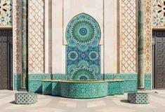 Wejście w Uroczystym meczecie Hassan II obrazy stock
