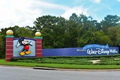 Wejście Walt Disney World w Jeziornym Buena Vista zdjęcia royalty free
