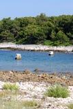 Wejście wewnątrz Mali Losinj zatoka, Chorwacja Fotografia Stock