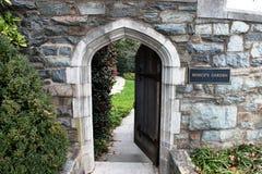 Wejście Wieka Normandczyka Kamienia Łuku Wejście Zdjęcia Royalty Free