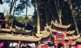 Wejście Wspinać się Qingcheng parka narodowego obraz royalty free