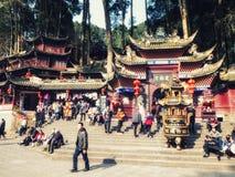 Wejście Wspinać się Qingcheng parka narodowego zdjęcia stock